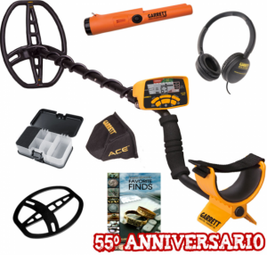 Metal Detector Garrett ACE 400i Summer pack, comprensivo di cuffie, copridisplay, copripiastra, centratore Garrett pro-pointer at ip 68