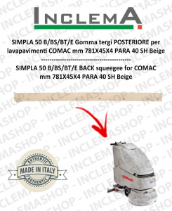 SIMPLA 50 B/BS/BT/E Back Squeegee Rubber for Scrubber Dryer COMAC