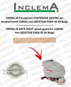 OMNIA 26 Paraspruzzi trasero DESTRO para fregadora COMAC