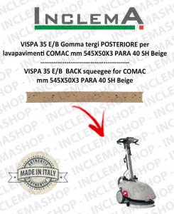 VISPA 35 E/B Back Squeegee Rubber for Scrubber Dryer COMAC