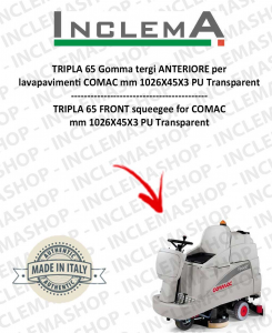 TRIPLA 65 Vorne Sauglippen für Scheuersaugmaschinen COMAC