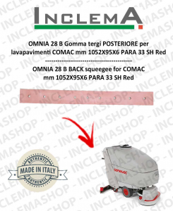 OMNIA 28 B Hinten Sauglippen für Scheuersaugmaschinen COMAC (tergi da 1015mm)