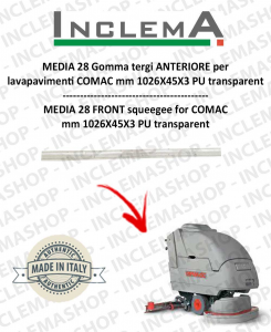 MEDIA 28 Vorne Sauglippen für Scheuersaugmaschinen COMAC