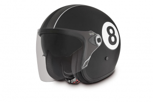 Casco jet Premier Vangarde Eight 9 BM nero