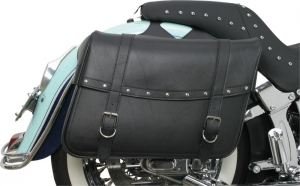 Coppia borse laterali pelle custom Saddlemen 35010093 Highwayman riveted jumbo
