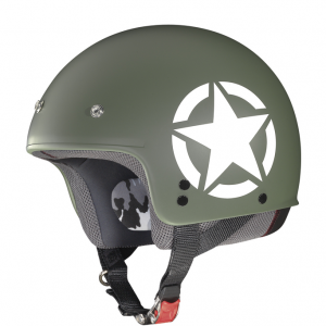 Casco demi jet Grex G2.1 Army verde militare opaco