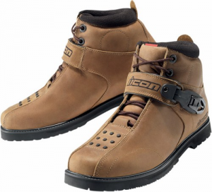 Scarpe moto pelle Icon Superduty 4 Marrone