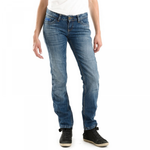 Jeans moto donna Overlap Crystal Palace Smalt con Fibra Aramidica