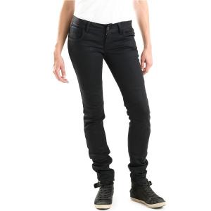 Jeans moto donna Overlap Bonneville Night impermeabili con Fibra Aramidica
