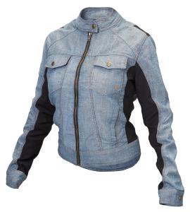 Giacca moto donna estiva jeans Hevik Giada