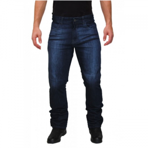 A-Pro Pantaloni di Pelle Frecce Unisex Klassic Jeans tagliato Custom Nero 36