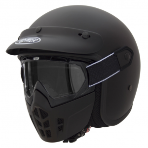 Casco jet Premier Mask U9 BM in fibra nero