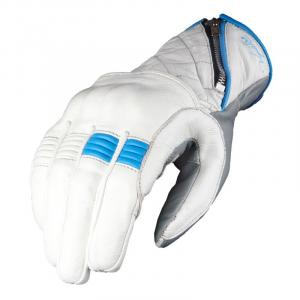 Guanti moto donna pelle estivi VQuattro MURANO Bianco Blu
