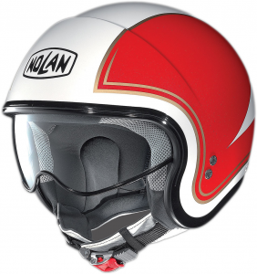 Casco jet Nolan N21 Tricolore bianco metal rosso verde