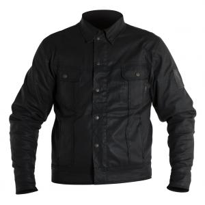 Giacca moto jeans Overlap Jared Night con maniche in Fibra Aramidica nero