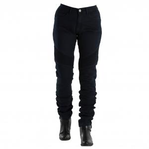 Jeans moto donna Overlap Imola con rinforzi in Fibra Aramidica blu