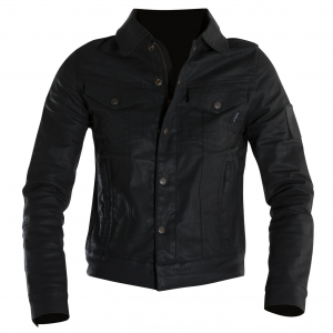 Giacca moto donna jeans Overlap Maria Night nero