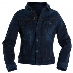 Giacca moto donna jeans Overlap Maria Smalt blu