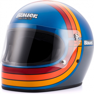 Casco integrale Blauer 80'S in fibra Blu