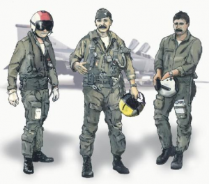 US pilots Vietnam war (3 fig. )