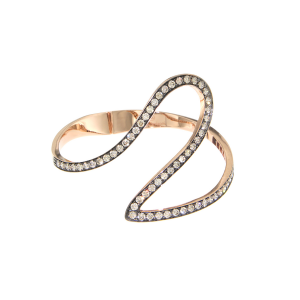Bracciale Ivy in oro rosa, diamanti brown e rodio nero
