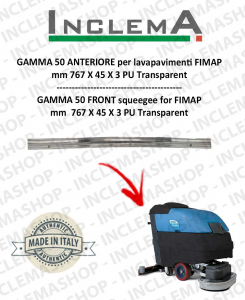 GAMMA 50 Front Squeegee Rubber for Scrubber Dryer FIMAP