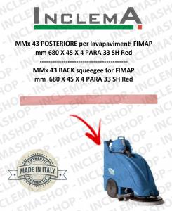 MMx 43 goma de secado trasero para fregadora FIMAP (till s/n 211012836)