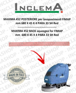 MAXIMA 452 Back Squeegee Rubber for Scrubber Dryer FIMAP