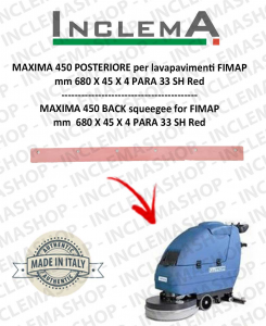 MAXIMA 450 Back Squeegee Rubber for Scrubber Dryer FIMAP