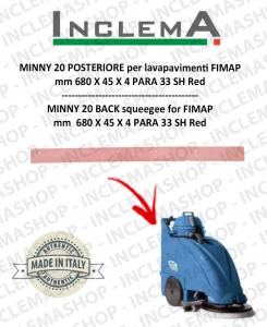 MINNY 20 goma de secado trasero para fregadora FIMAP