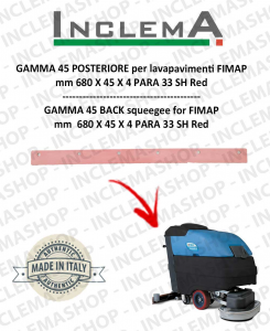 GAMMA 45 Back Squeegee Rubber for Scrubber Dryer FIMAP