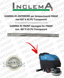 GAMMA 45 Front Squeegee Rubber for Scrubber Dryer FIMAP