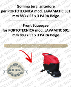 LAVAMATIC 501 B goma de secado delantera para fregadora  PORTOTECNICA