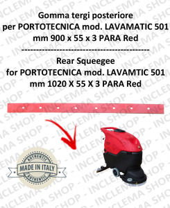 LAVAMATIC 501 B Back Squeegee Rubber for Scrubber Dryer PORTOTECNICA