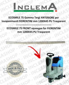 ECOSMILE 75 Front Squeegee Rubber for Scrubber Dryer FIORENTINI (squeegee a