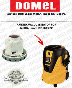 DE1025 PC Vacuum Motor Domel for vacuum cleaner MIRKA
