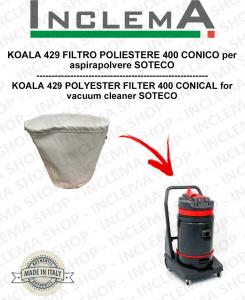 KOALA 429 Filtro de poliéster 440 cónico para aspiradora SOTECO