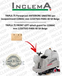 TRIPLA 75 B Paraspruzzi Vorne SINISTRO für Scheuersaugmaschinen COMAC