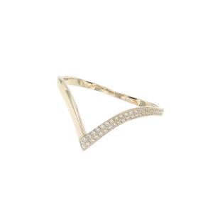 Anello due dita in oro 18k e diamanti