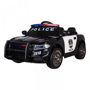 Auto Macchina Elettrica Per Bambini POLIZIA con altoparlante e sirena