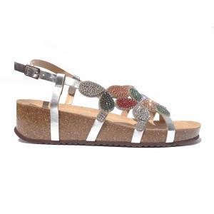 Sandalo gioiello argento/multicolore Grunland