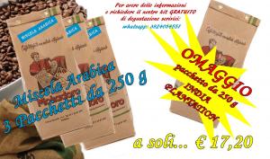 Offerta caffè macinato 250 g pregiata qualità