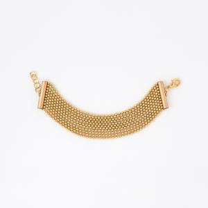 Bracciale a maglia in ottone galvanizzato