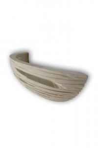 Applique in  pietra leccese con incisione a taglio - Lampada da muro in pietra