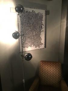 LAMPADA STELO 3 LUCI IN ACCIAO CON BASE IN MARMO