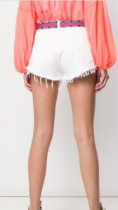 Shorts denim effetto vissuto