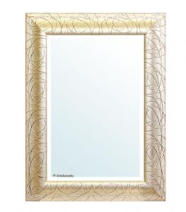 Specchiera foglia oro patinato