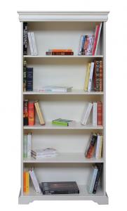 Libreria a giorno laccata stile Luigi Filippo
