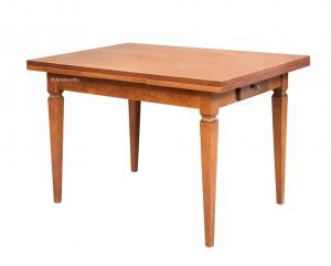 Tavolo rettangolare allungabile con cassetto 120-200 cm