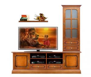 Composizione soggiorno mobile tv e vetrina